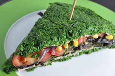 Nízkokalorický špenátový sendvič bez múky