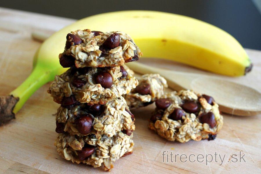 Banánovo ovsené cookies bez múky, cukru a vajec z troch ingrediencií