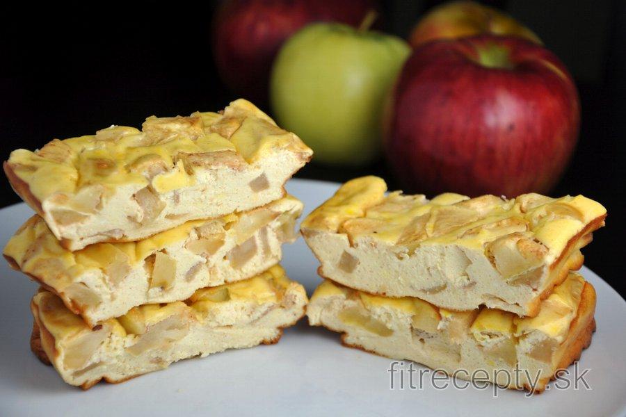 Jablkovo-proteínové cheesecake tyčinky
