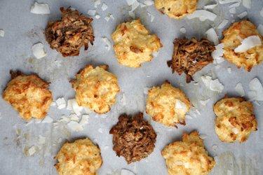 Zdravé kokosové macaroons