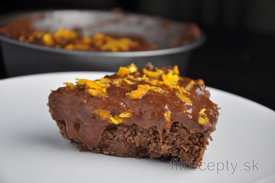 Čokoládovo-pomarančová torta z cíceru