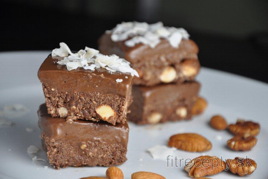 Nepečené kakaové kocky