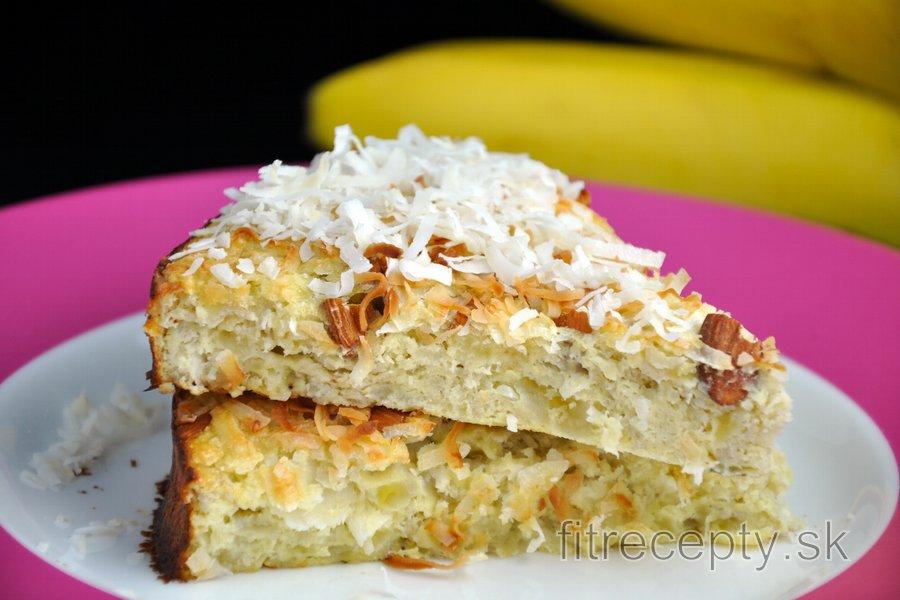 Kokosovo-banánový koláč bez cukru a bez múky