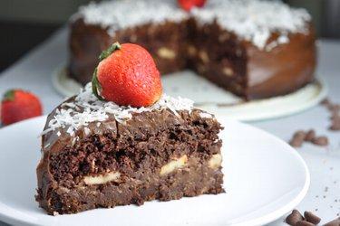 """Zdravá čokoládová fitness torta """"Čokoholik"""""""