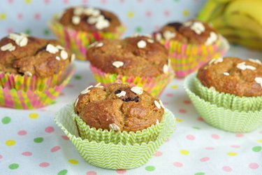 Zdravé banánovo ovsené muffiny