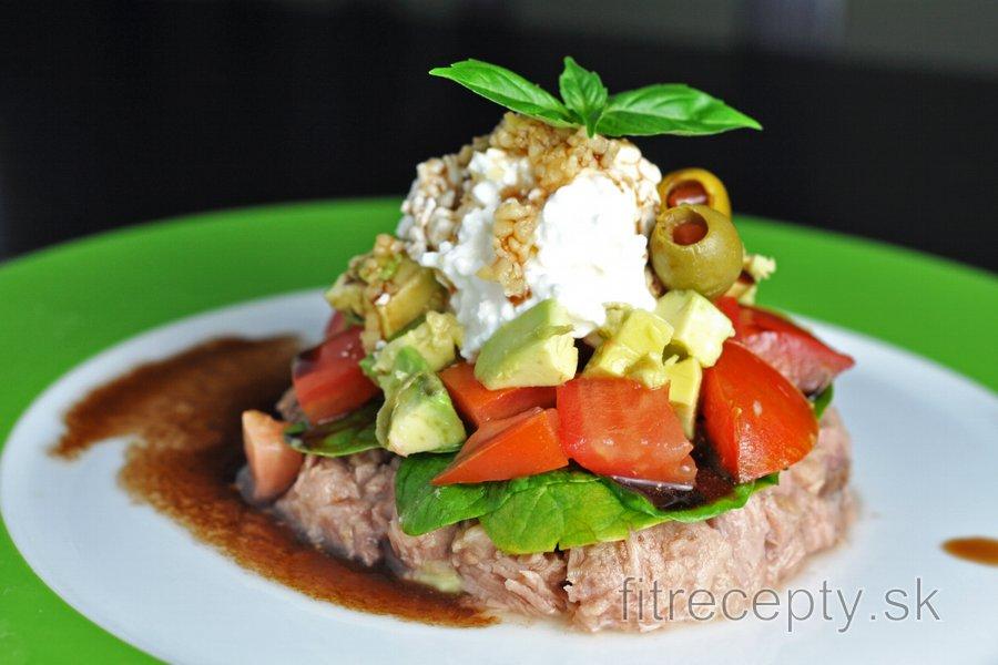 Tuniakovo-zeleninová vežička s balzamikom