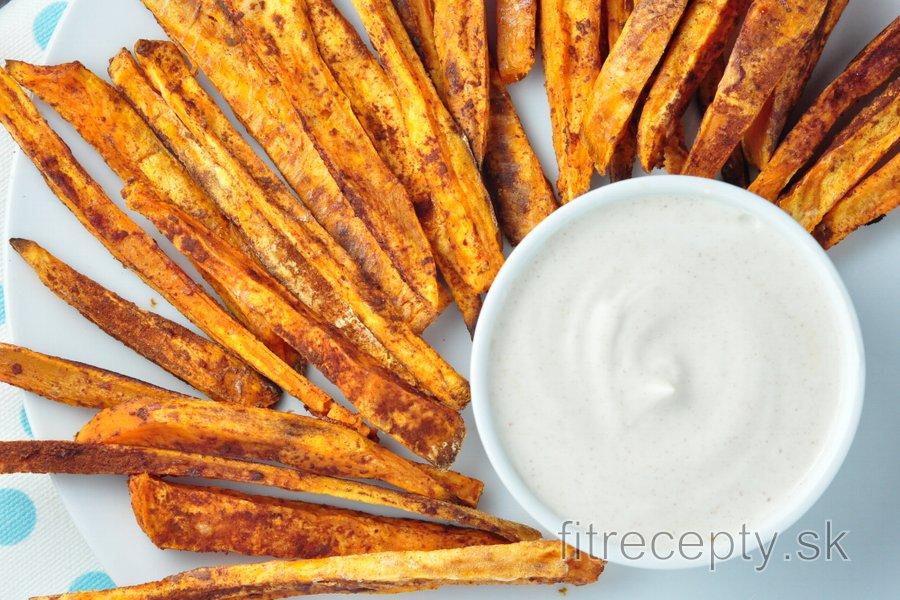 Škoricové hranolky zo sladkých zemiakov s vanilkovým krémom