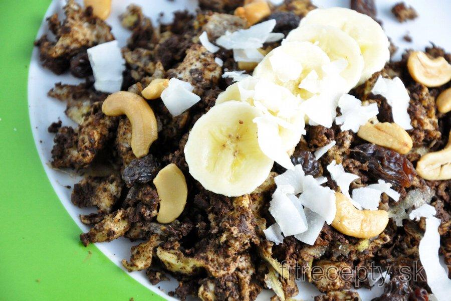 Fit banánovo-kakaová praženica