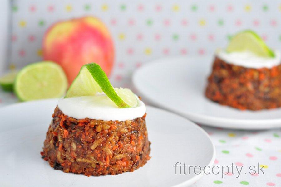 Nepečené jablkovo-slivkové mini tortičky