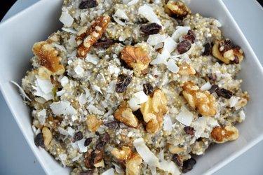 Fit quinoová kaša s tvarohom