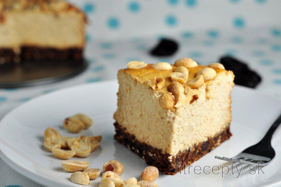 Fit tvarohovo - arašidový koláč