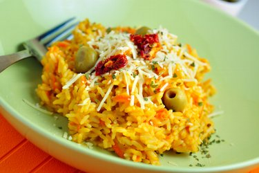 Zdravé tekvicové rizoto s mrkvou