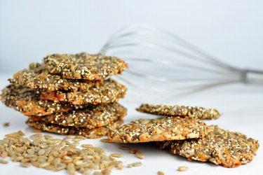 Slané semienkové sušienky so syrom a quinoou