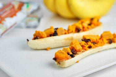 Banánové lodičky s proteínovou tyčinkou