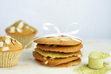 Matcha cookies so zeleným čajom