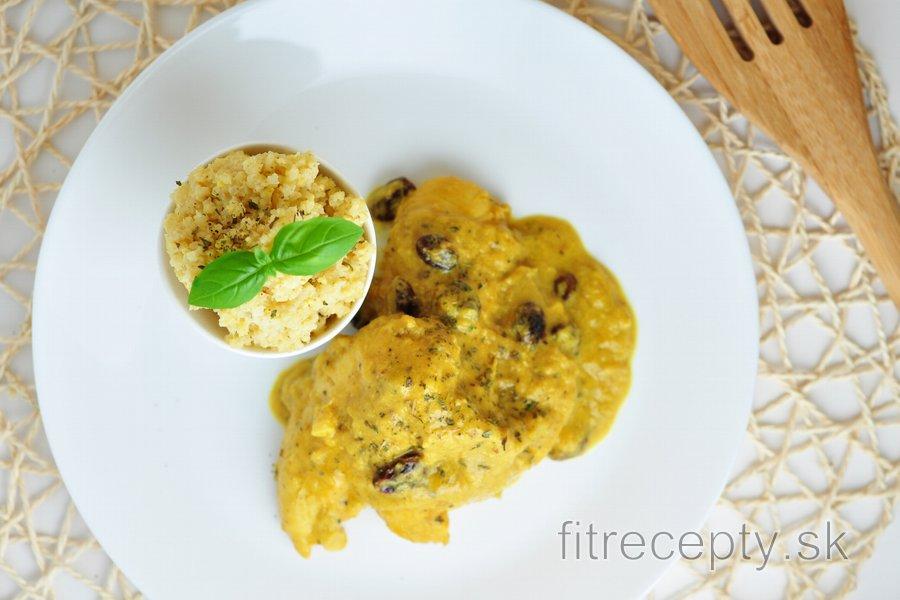 Exotické kuracie prsia v mangovo-kokosovej omáčke s pšenom