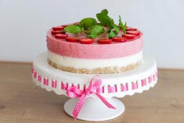 """Jogurtovo jahodová nepečená torta """"Dokonalosť"""""""