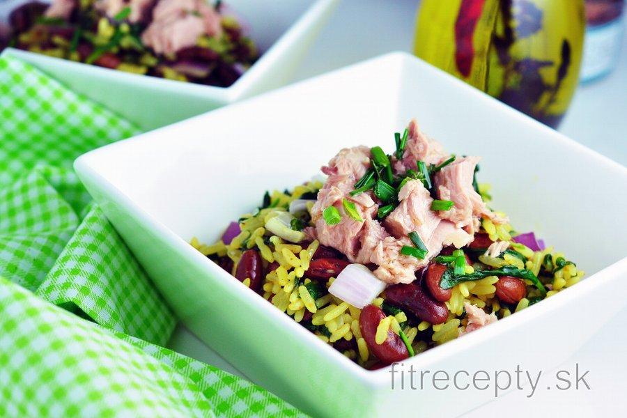 Ryža s fazuľou, špenátom a tuniakom