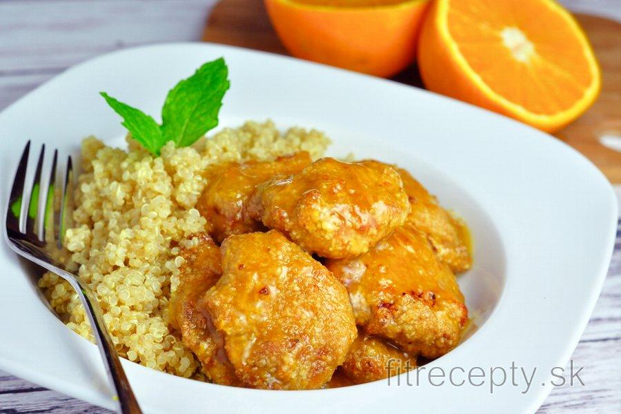 Kuracie prsia v pomarančovej omáčke s quinoou