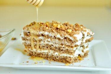 Fit medový koláč
