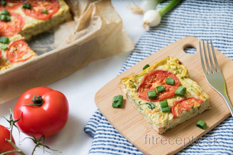 Frittata s tofu, cuketou a paradajkami