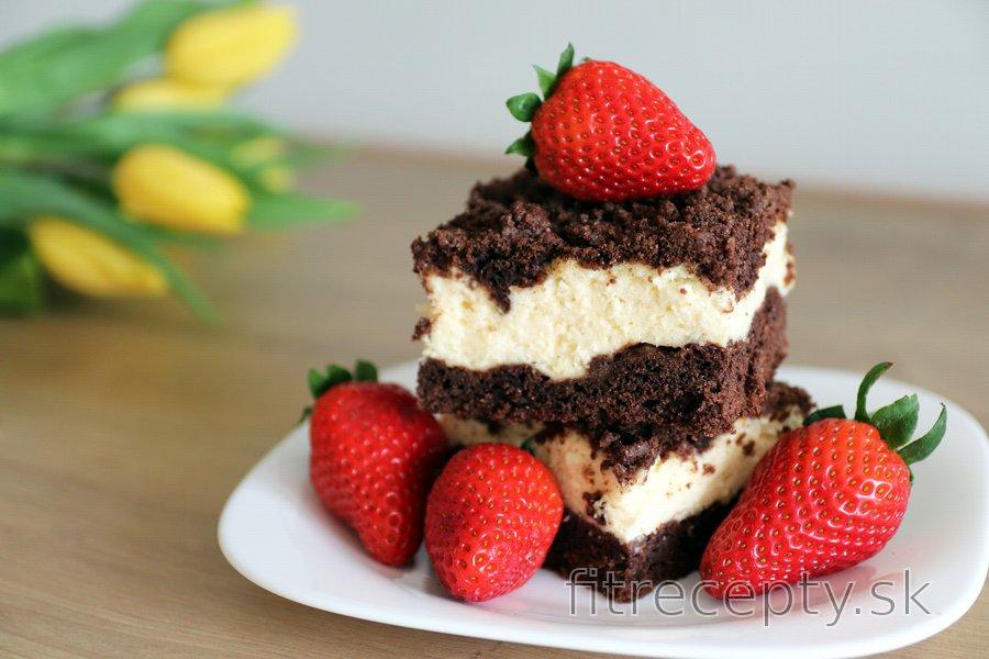 Fit strúhaný tvarohový koláč