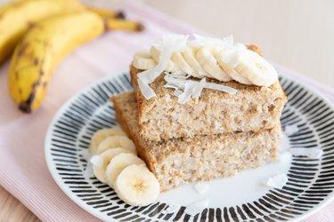 Zdravá pečená banánovo-kokosová kaša