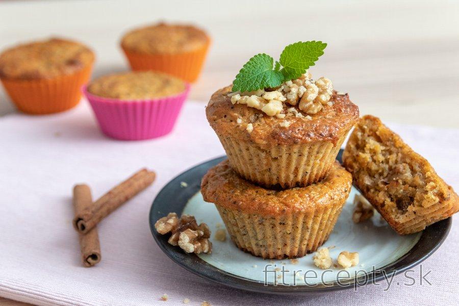 Zdravé mrkvové muffiny zo špaldovej múky