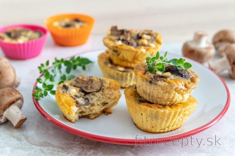 Vajíčkové muffiny s hubami