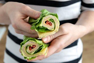 Šalátový wrap - low carb