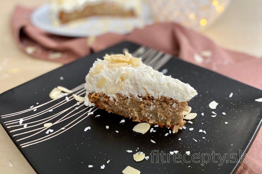 Zdravá kokosová Raffaello torta
