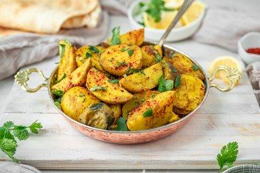 Výborné kari zemiaky s baklažánom