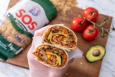 Burrito so zeleninou a hnedou ryžou