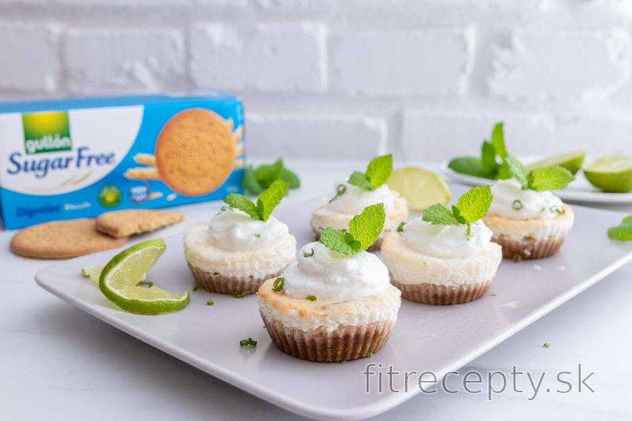 Mini limetkové cheesecakes bez cukru