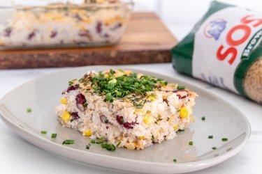 Mexický slaný ryžový nákyp