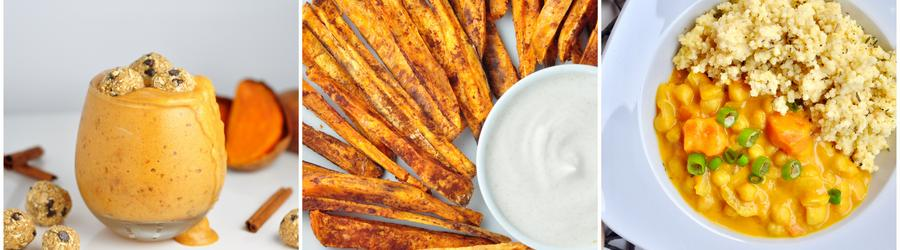 Vegánske recepty so sladkými zemiakmi
