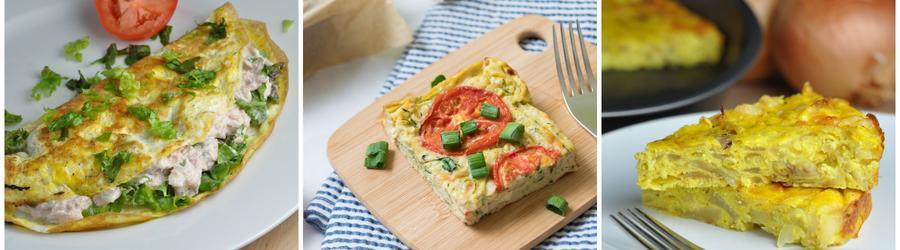 Nízkokalorické diétne recepty s vajíčkami
