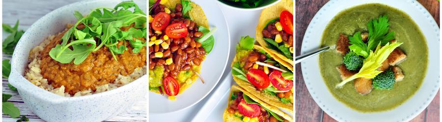 Zdravé vegánske zeleninové recepty