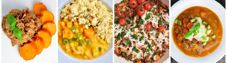 Sladké zemiaky - zdravé recepty na obed a večeru