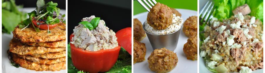 Fitness obedy a večere s tuniakom