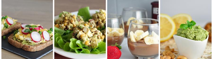Zdravé raňajky s avokádom