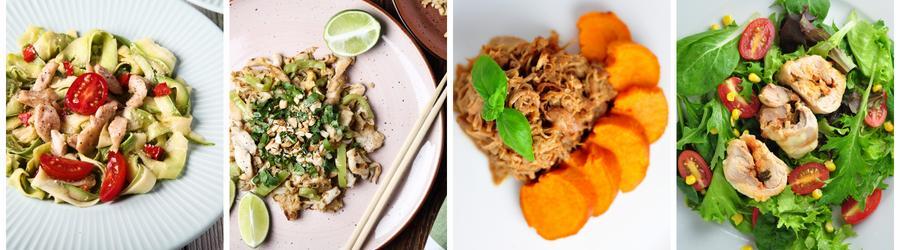 Zdravé obedy a večere s kuracím mäsom