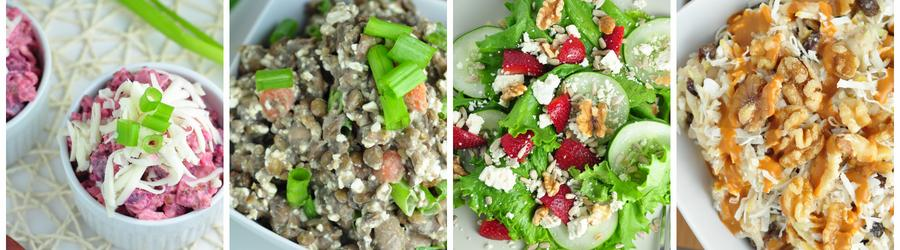Recepty na diétne šaláty