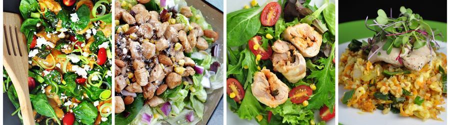 Zdravé recepty na kuracie šaláty