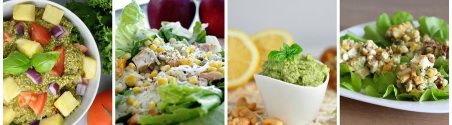 Zdravé šaláty s avokádom