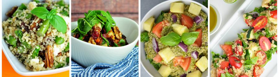 Zdravé šaláty s quinoou